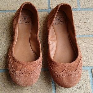 Lucky Brand Lp Edies Leather Suede Ballet Flats